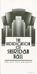Sheridan Hall: Pamphlet, Rededication of Sheridan Hall