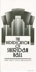 Sheridan Hall: Pamphlet, Rededication of Sheridan Hall