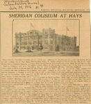 Sheridan Coliseum: Newspaper, Sheridan Coliseum at Hays