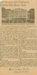Sheridan Coliseum: Newspaper, Sod Broken for Coliseum Twenty-five Years Ago