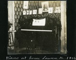008-02: Piano in the Sternberg Home in Lawrence by George Fryer Sternberg 1883-1969