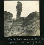 010-04: Chalk Beds Near Castle Rock by George Fryer Sternberg 1883-1969