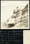 015-03: Hauling Specimen Down With Rope. by George Fryer Sternberg 1883-1969