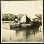 016-02: Raft With Tent by George Fryer Sternberg 1883-1969
