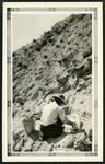 021-03: Applying Plaster to Fossil by George Fryer Sternberg 1883-1969