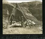 014-03: Chasmosaurus belli Skull Lifted by a Triplex Block by George Fryer Sternberg 1883-1969