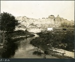 019-02: River Curving Towards a Tall Rock Wall by George Fryer Sternberg 1883-1969