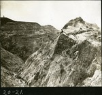 034-02: Man Sitting on An Outcropping : by George Fryer Sternberg 1883-1969