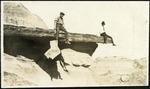 034-04: Two Men Sitting on a Ledge : by George Fryer Sternberg 1883-1969