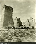 012_01: Oakley School Group at Monument Rocks by George Fryer Sternberg 1883-1969