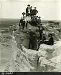 012_02: Oakley School Group at Monument Rocks by George Fryer Sternberg 1883-1969