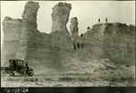 014_02: Different views of the Monument Rocks by George Fryer Sternberg 1883-1969