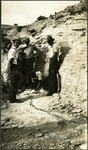 017_03: Group of People at the Excavation Site of the Portheus Molossus Cope by George Fryer Sternberg 1883-1969