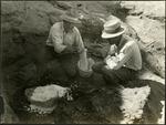 005_04: George Sternberg Applying Plaster to a Fossil by George Fryer Sternberg 1883-1969