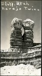 013_03: The Navajo Twins Rock Formation by George Fryer Sternberg 1883-1969