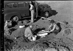 Human Skeleton Covered in Plaster by George Fryer Sternberg 1883-1969