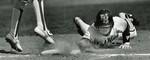 1980s Fort Hays State University Baseball Player Vince Echeverria Sliding into Base