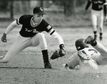 Fort Hays State University Baseball Player Brian Keck Tagging Out Opponent