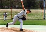 Fort Hays State University Baseball Team Member Daniel Traffas Pitching