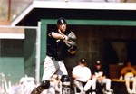 Fort Hays State University Baseball Player Chay Gillespie Throwing Baseball