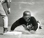 Fort Hays State University Baseball Team Member Dionandrae Josenberger Sliding into Base