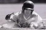 Fort Hays State University Baseball Player Ryan Lopez Sliding into Base