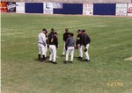 Baseball Players in a Huddle
