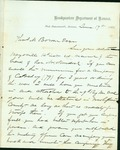 Letter written to Thomas Bowen from James Blunt. by James G. Blunt
