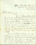 Letter appointing Thomas Bowen to mobilize a volunteer cavalry by Albert Howell Horton 1837-1902