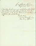 Certification of the newly formed 13th Regiment of the Kansas Volunteers by William M. Watts