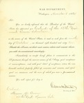 Appointment of Colonel from the President of the United States for Thomas Bowen by Edwin Lamson Stanton 1842-1877