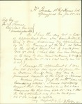 Letter of acceptance of rank of Colonel signed by Thomas M. Bowen by Thomas Mead Bowen 1835-1906