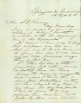 Letter written to the Hon. S. C. Pomeroy