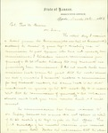 Letter to Col. Thomas M. Bowen from Ward Burlingame by Ward Burlingame