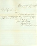 Letter from Col. Bowen requesting transportation for soldiers' wives by Thomas Mead Bowen 1835-1906
