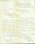 Letter announcing the dishonorable dismissal of Col. Thomas M. Bowen by A. A. Vincent