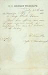 Military telegraph sent to Brigadier General Bowen by J. R. Kimble