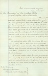 Application to President Andrew Johnson to convene a Court Martial on behalf of Col. Bowen