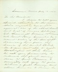 Letter to the U. S. President accompanying the affidavits in support of Col. Bowen