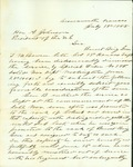 Letter from Governor Samuel C. Crawford to President Andrew Johnson by Samuel Johnson Crawford 1835-1913