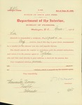 Certificate for brig pension for Thomas Bowen by V. Warren