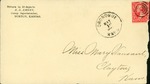 Envelope addressed to Mary Vansant by R. D. Emery