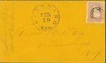 Envelope addressed to Hisom Hill