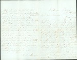 Letter written by A. L. Munyon to his brother