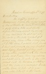 Letter written by B. F. McBride to his brother
