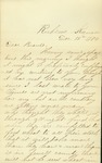 Letters written by Will McBride to his parents and to his brother
