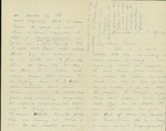 Letter written by William to Fannie Flinn