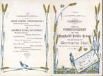 Program from the 1886 commencement of the Humboldt (Kan.) Public School