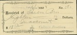 Receipt and money order for the Larson Brothers to the H. D. Lee Mercantile