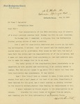 Letter from Pastor W. W. Smith